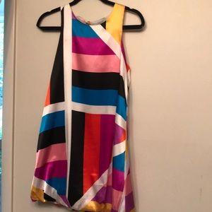 Karlie multi color bubble hem dress